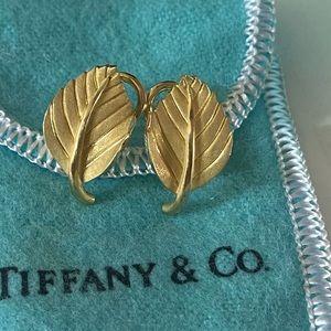 18K Gold Leaf Tiffany & Co. Earrings